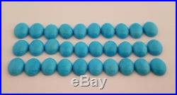 10 Oval Shaped 100% Natural Sleeping Beauty Turquoise Cabochons 10x8mm