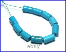 10 pcs SLEEPING BEAUTY TURQUOISE 7-9mm Tube Beads NATURAL COLOR /b8