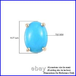 10K Yellow Gold Sleeping Beauty Turquoise Stud Solitaire Earrings Jewelry Ct 1.5