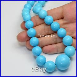 10mm-22.5mm Magnificent Sleeping Beauty Turquoise Round Beads 24 strand