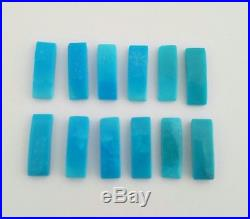 12 100% Natural Sleeping Beauty Turquoise Cabochons 5x15mm
