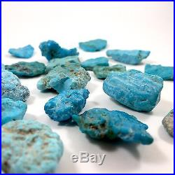 120g NATURAL Sleeping Beauty Turquoise, Medium-Large 18 Pieces Rough NICE BLUE