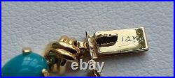 14K Gold Sleeping Beauty Turquoise Bracelet Imperial Gold Sold by QVC, Vintage