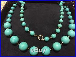 14k Gold & Sleeping Beauty Turquoise 26 Necklace Neiman Marcus