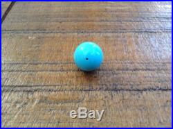 14mm Pure Sleeping Beauty Turquoise round sphere bead. 100% Natural