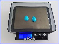 15.5 CT 100% Natural One Pair Sleeping Beauty Turquoise Cabochons 12x16mm