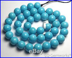15.5 SLEEPING BEAUTY TURQUOISE 10mm Round Beads AAA NATURAL COLOR /R77
