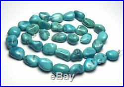 15.5 Strand SLEEPING BEAUTY TURQUOISE 11-13mm Nugget Beads /n19