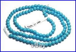 15.5 Strand SLEEPING BEAUTY TURQUOISE 4mm Round Beads AA-AAA NATURAL COLOR /R71