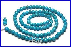 15 Strand SLEEPING BEAUTY TURQUOISE 4mm Round Beads AA NATURAL COLOR /R16