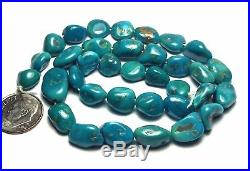 15 Strand SLEEPING BEAUTY TURQUOISE 9-16mm Nugget Beads /n13