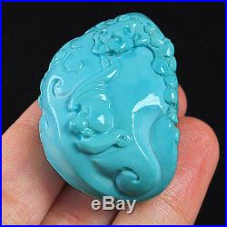 156.25CT 100% Natural Sleeping Beauty Turquoise Carving Arhat CST21