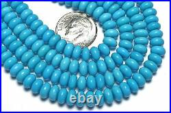 16 Strand SLEEPING BEAUTY TURQUOISE 6mm Rondelle Beads AAA NATURAL COLOR /d23