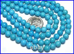 16 Strand SLEEPING BEAUTY TURQUOISE 6mm Round Beads AAA NATURAL COLOR /R44