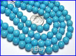16 Strand SLEEPING BEAUTY TURQUOISE 8mm Round Beads AAA NATURAL COLOR /R45