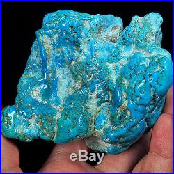 1667.4CT 100% Natural Sleeping Beauty Turquoise Brain Nugget Intact Speci YSTc78