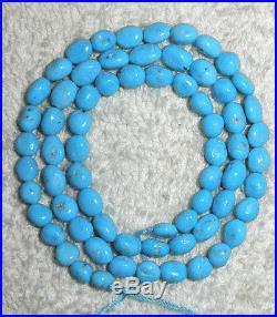 18 Inch Strand Pebble Nugget Sleeping Beauty Beads Arizona Craft Jewelery # 291