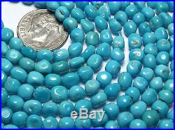 18 SLEEPING BEAUTY TURQUOISE 4-6mm Semi-Round Nugget Beads /n97