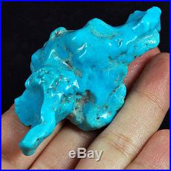 185.8CT 100% Natural Sleeping Beauty Turquoise Material Rough Specimen YSTa12