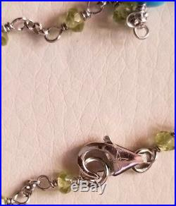 $189 HSN Heritage Sterling silver peridot sleeping beauty turquoise necklace