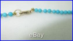 18k AAA Grade Natural Sleeping Beauty Turquoise Necklace 2.8mm