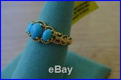 2.30ct AZ Sleeping Beauty Turquoise / Diopside Ring 14k YG over Fine Silver Sz10