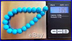 20 Vtg Round Arizona Blue Sleeping Beauty Turquoise Round Beads 8 mm /13.5 g
