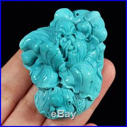 206.5CT 100% Natural Sleeping Beauty Turquoise Carving Flower CST18