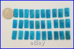 30 Rectangular 100% Natural Sleeping Beauty Turquoise Cabochons 14x7mm