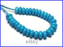 30 pcs SLEEPING BEAUTY TURQUOISE 4.5mm Rondelle Beads Natural /D5