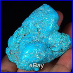 369.3CT 100% Natural Sleeping Beauty Turquoise Brain Nugget Intact Speci YSTc63