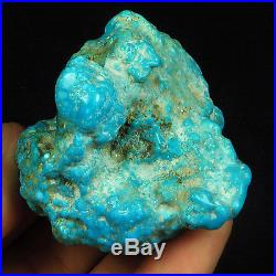 408.6CT 100% Natural Sleeping Beauty Turquoise Brain Nugget Intact Speci YSTc49