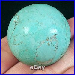 43.92g 33mm 100% Natural High Hardness Sleeping Beauty Turquoise Round Bead ZST1