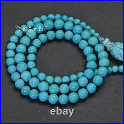 4MM-7MM Sleeping Beauty Turquoise Smooth Round Rondelle 18.1 inch strand