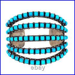 5 Row Sleeping Beauty Turquoise Cuff Bracelet Paul Livingston