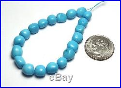 5 Strand SLEEPING BEAUTY TURQUOISE 5-8mm Semi-Round Nugget Beads /n7