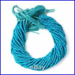 5 Strands Lot Sleeping Beauty Turquoise Gemstone Handmade Beads Rondelle 3-4mm
