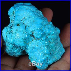 586.6CT 100% Natural Sleeping Beauty Turquoise Brain Nugget Intact Speci YSTc66