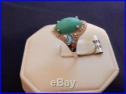 6.24ct Size 7 Sleeping Beauty Turquoise, Neon Apatite, White Topaz Silver Ring