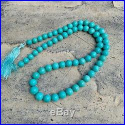 6.7MM-8.6MM Sleeping Beauty Turquoise Smooth Round Beads 17.7 inch strand