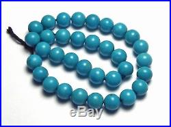 6 Strand SLEEPING BEAUTY TURQUOISE 6mm Round Beads AAA NATURAL COLOR /R18