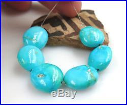 6 Untreated Rare Aaaa+ Sleeping Beauty Robin's Egg Blue Turquoise Beads