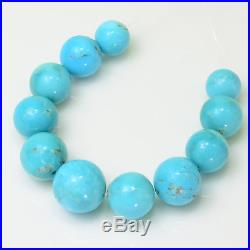 7.2MM-10.5MM Sleeping Beauty Turquoise Smooth Round Rondelle 3.5 inch strand