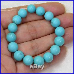 7.88MM-9.68MM Sleeping Beauty Turquoise Smooth Round Rondelle 5.5 inch strand