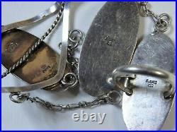 70s NAVAJO Sleeping Beauty TURQUOISE STERLING Silver SLAVE Bracelet Ring sz8 snd