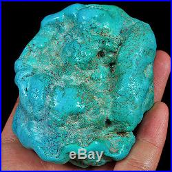 756.3CT 100% Natural Sleeping Beauty Turquoise Brain Nugget Intact Speci YSTc80