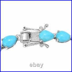 925 Sterling Silver Sleeping Beauty Turquoise Bracelet Gift Size 7.25 Ct 0.7