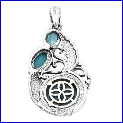 925 Sterling Silver Sleeping Beauty Turquoise Pendant Jewelry For Her Ct 3.1