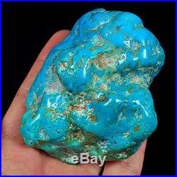975.6CT 100% Natural Sleeping Beauty Turquoise Brain Nugget Intact Speci YSTc77