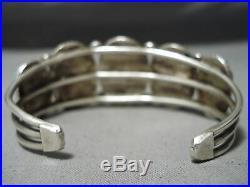 Amazing Vintage Navajo Sleeping Beauty Turquoise Sterling Silver Bracelet